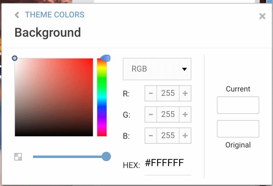 تغییر رنگ های تمپلیت