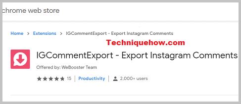 افزونه IGCommentExport برای انتقال کامنت ها اینستاگرام به اکسل.
