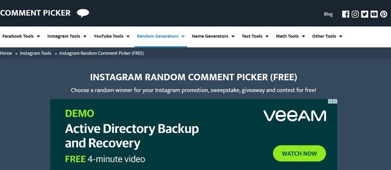 comment picker tool برای انتقال کامنت های اینستاگرام به فایل اکسل.