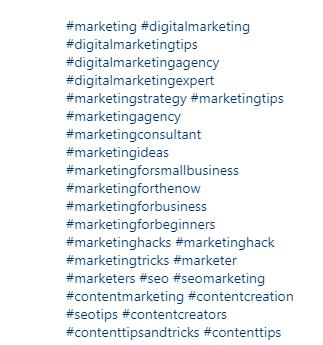 کلمات کلیدی یا هشتگ های رسانه اجتماعی - اینستاگرام