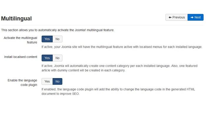 زبان برنامه جوملا