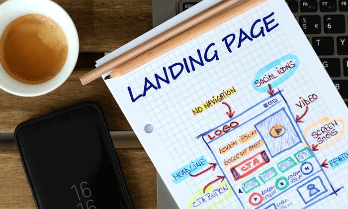 چینش عناصر در landing page
