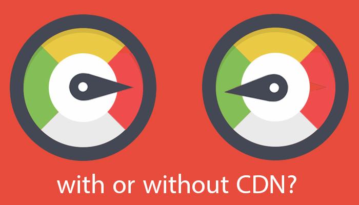 با CDN و بدون CDN.
