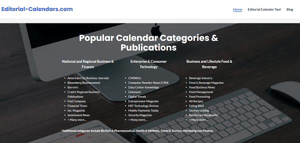Publications' Editorial Calendars ابزار پیدا کردن ترند پر طرفدار